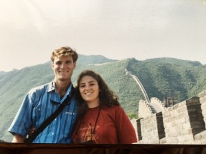 Liana and Peter at the Great Wall of China