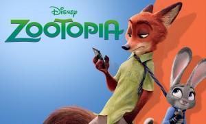 Judy Hopps (voiced by Ginnifer Goodwin) and Nick Wilde (voiced by Jason Bateman).