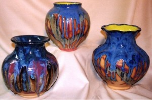 Final results of glaze-covered pottery.