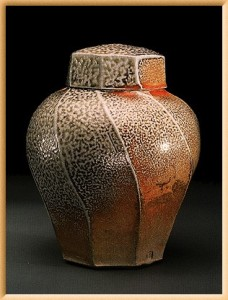 Example of salt-fired pottery.