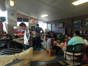 Maui youth gather after school at the Maui Coffee Attic for an afternoon of games and music.
