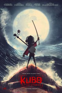 "Poster for ""Kubo and the Two Strings."" Now showing at Maui Mall Megaplex Cinema."