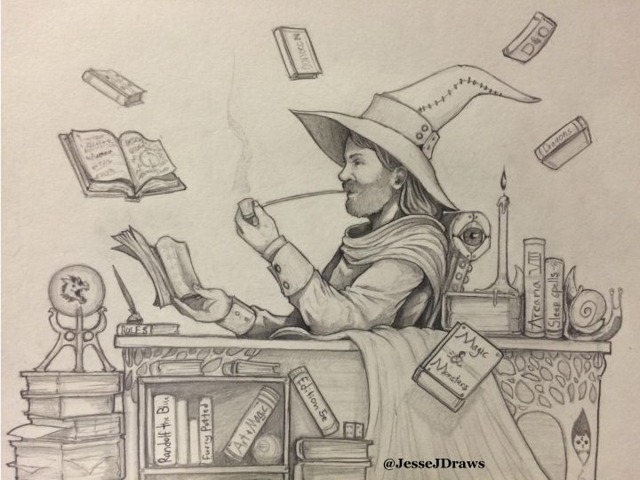 """Wizard In His Study"" by Jesse Joseph"