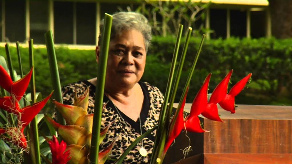 Joyce Kainoa at memorial service for attorney and friend Jon Van Dyke.