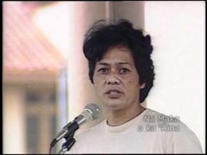 Joyce Kainoa at 'Iolani Palace, 1982.