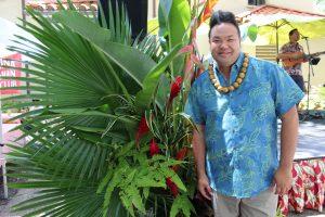 Daryl Fujiwara, event coordinator, Pelekikena Iho Nei (immediate past president) of the Lahaina Hawaiian Civic Club, and interviewee.