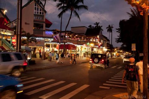 Lahaina town during Second Friday.