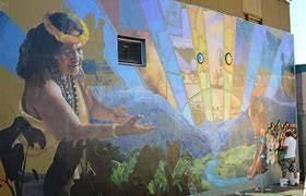 Mural located in Wailuku on Maui.