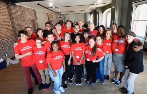 Group of individuals at a Special Olympics conference in DC