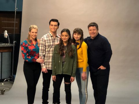 The cast from No Good Nick pose for a photo together