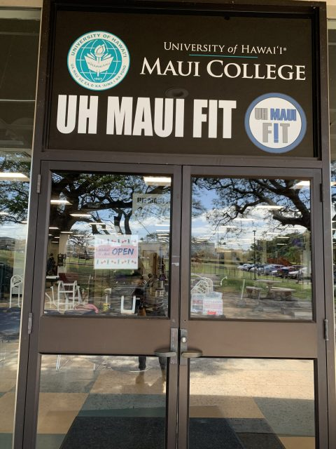 Photo of entry doors to UH Maui Fit