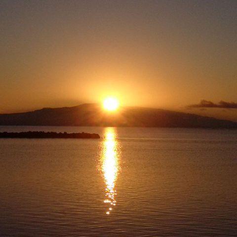 Sun Rising Over Maui