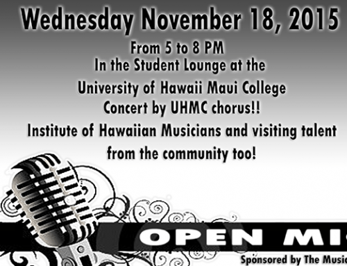 THE MUSIC CLUB  TO HOST OPEN MIC NOVEMBER 18TH
