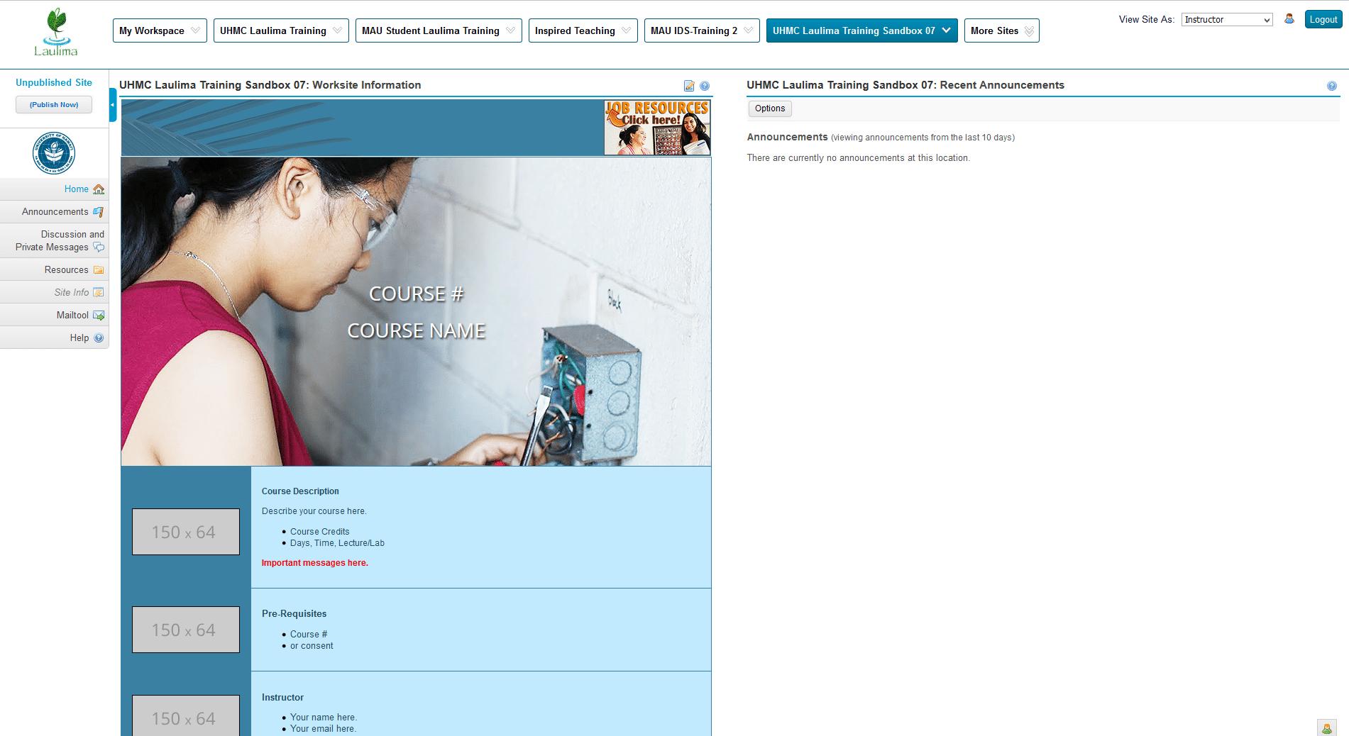Blue Template Screenshot