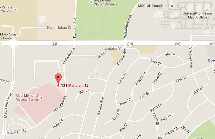 Map to 121 Mahalani Street