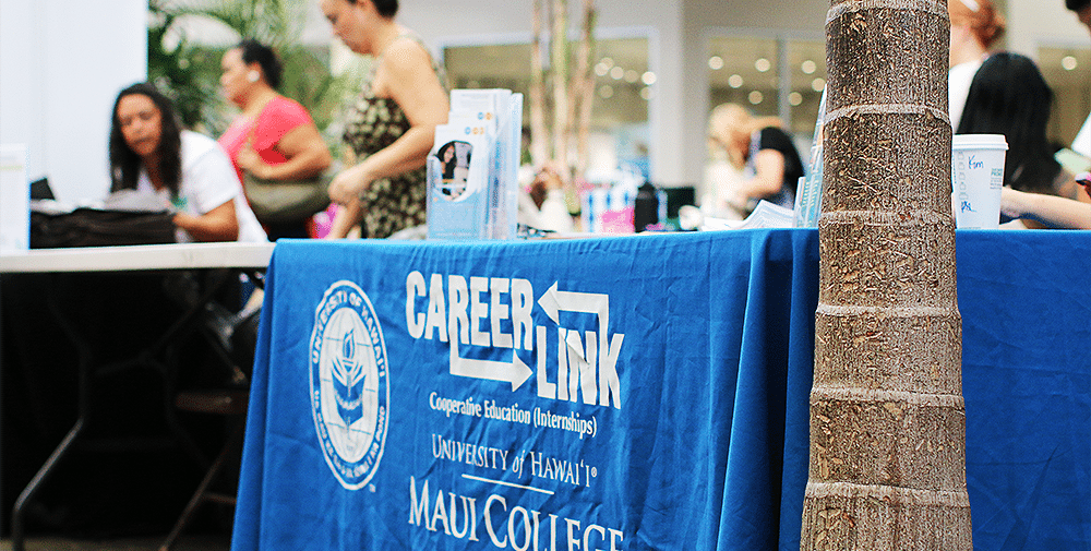 Image of the Career Link booth at the Job Fair