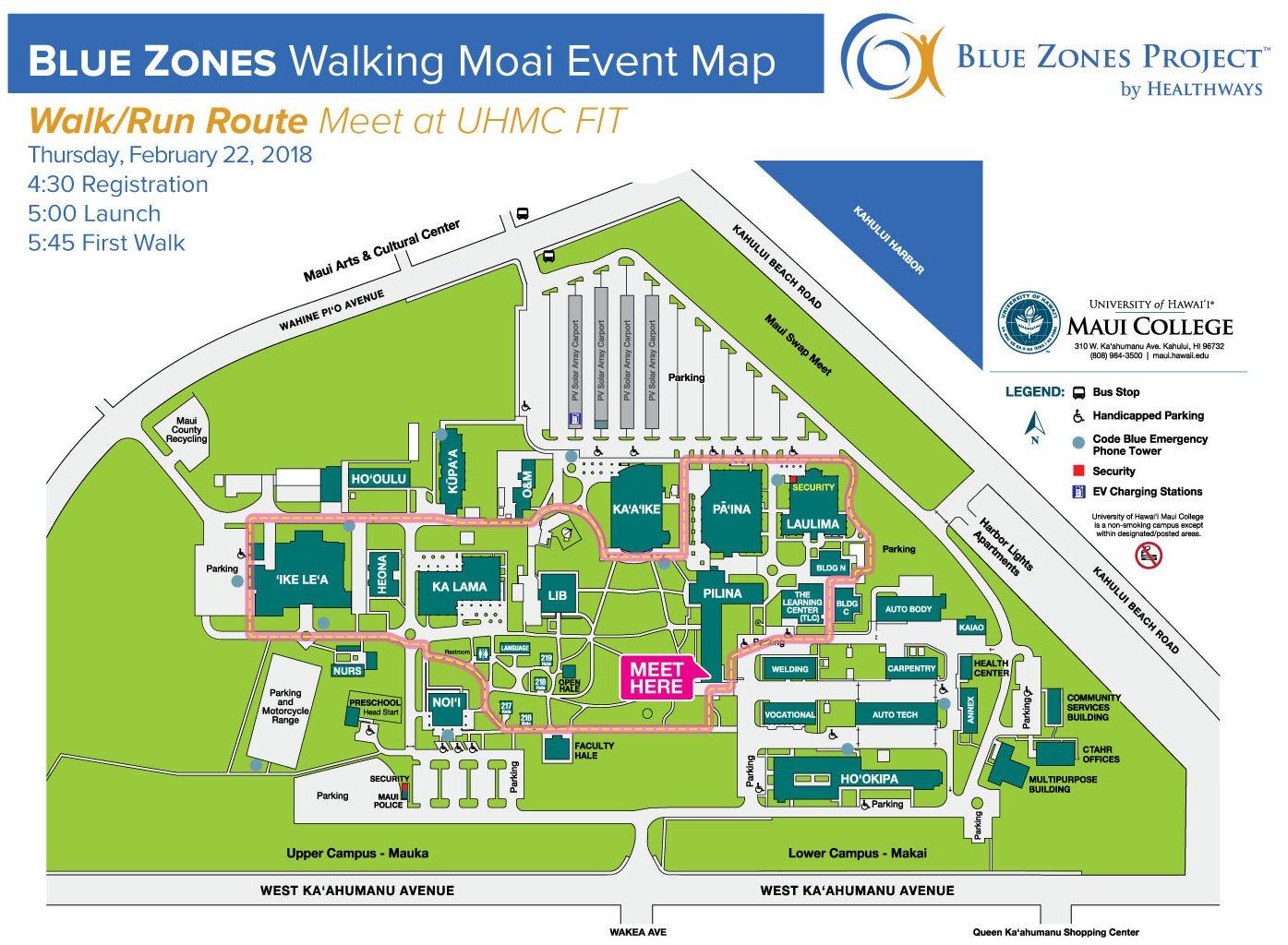 Walking Moai map