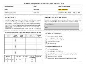 High School Enrollment Days 2019 University Of Hawaii Maui