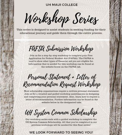 Workshop Series Flyer