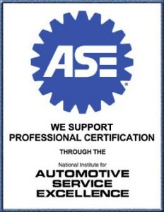 ASE We support professional certification