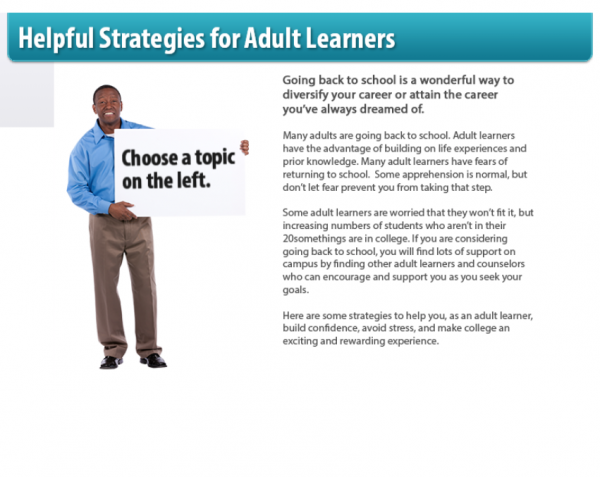 Adult Learner Strategies