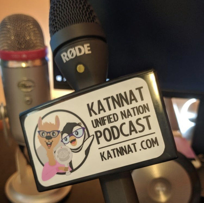 Photo of the Kat n Nat microphone used for the podcast.
