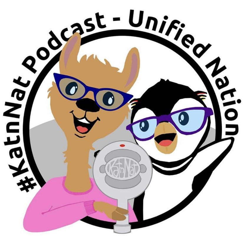 Kat n Nat's Podcast Logo