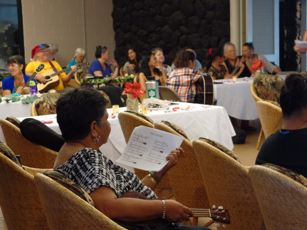 The audience at one of the Hawaiian Music's performances.