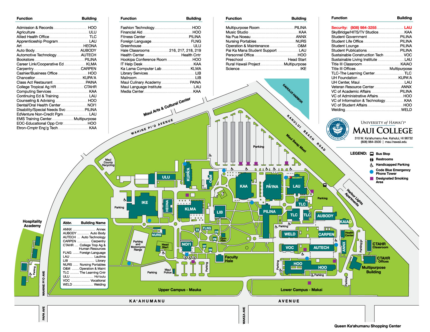 Quick Floor Plan University Of Hawaii Maui College